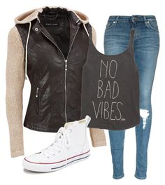 """""""No bad vibes"""" by malaina-819 on Polyvore featuring Black Rivet, Billabong, Converse, women's clothing, women's fashion, women, female, woman, misses and juniors"""