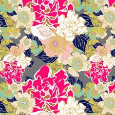 Jungle Passion Test Navy leaves and dark gray fabric by joanmclemore on Spoonflower - custom fabric