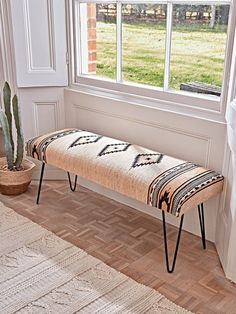 NEW Ikat Hairpin Bench - Luxury Modern Benches - Wooden & Upholstered - Modern Luxury Seating - Modern Home Furniture rustic furniture furniture log furniture ideas Hallway Furniture, Modern Home Furniture, Bench Furniture, Rustic Furniture, Luxury Furniture, Entryway Bench, Furniture Stores, Antique Furniture, Furniture Outlet