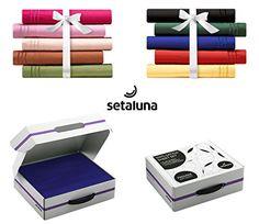 cool #1 Best seller Setaluna Premier Soft & Silky 100% Satina 4 Piace Bed Sheet Set, King, Royal Blue