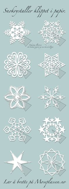 Paper snowflakes and other kirigami patterns. by carlene Paper snowflakes and other kirigami patterns. by carlene Kirigami Patterns, Paper Patterns, Paper Snowflake Patterns, Paper Snowflakes, Christmas Snowflakes, Christmas Paper, Christmas Projects, Holiday Crafts, Spring Crafts