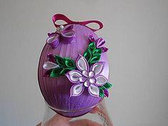 Dekorácie - Veľkonočné vajíčko s kvietkami 4 - 5144233_