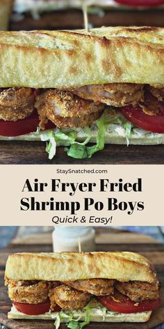 Fried Shrimp Po Boys with Remoulade Sauce were the perfect experiment for my Air Fryer! What I love most about my Air Fryer is the ability cut out a ton of fat from some of my favorite dishes! Air Fryer Fried Shrimp Recipe, Fried Shrimp Recipes, Shrimp Recipes For Dinner, Shrimp Dishes, Seafood Recipes, Grilled Shrimp, Air Fryer Dinner Recipes, Air Fry Recipes, Cooking Recipes