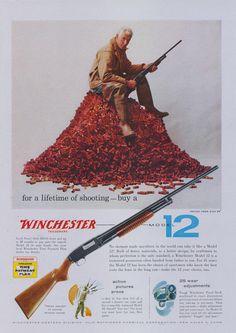 1957 Winchester Shotgun Ad Model 12 Rifle Advertisement Print Man Cave Wall Art Decor by AdVintageCom on Etsy https://www.etsy.com/listing/477823881/1957-winchester-shotgun-ad-model-12