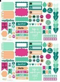 These printable planner stickers are part of the terrific Hello Spring bundle… Free Planner, Happy Planner, Planner Decorating, Planner Supplies, Printable Planner Stickers, Bunt, Planners, Hello Spring, Planner Organization