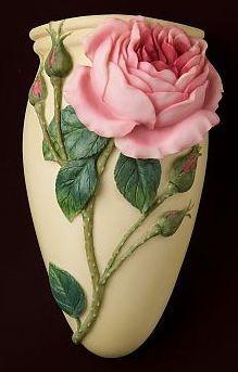 English Rose Wall Vase