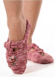 Sacha Ballet Slippers   AllFreeKnitting.com