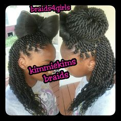 Senegalese#rope#twist#bun&bow#braids4girls