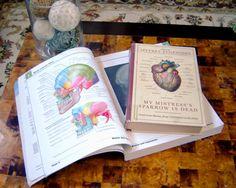 Medical textbook coffee table styling via eastmeetssouthblog.blogspot.com