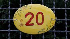 DIY Hausnummer für Gartenzaun
