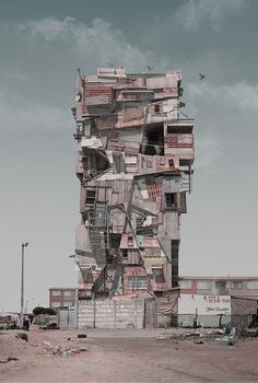 Skhayascraper   For Con/struct, photographer Justin Plunkett blurs the lines between fantasy and reality, creating towering South African cityscapes from photographs layered with three-dimensional animations.