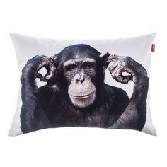 Vankúš Monkey obliečka 60x40 cm     #vankuse#dremandfun#obyvacka#detskaizba#spalna Monkey, Fun, Animals, Jumpsuit, Animales, Animaux, Monkeys, Animal, Animais
