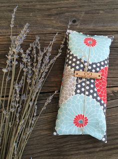Lavender Eye Pillow with Flax Seed microwave by Cowgrlcreations