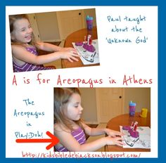 Preschool Alphabet: A is for Areopagus in Athens