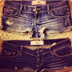 <3 lovvee these hollister shorts