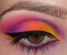 Triadic Eye  colors based on red yellow blue I.e,  blue/purple -red/orange -yellow/gold(3 equidistant colors on the color wheel), Burning Heart Palette look! wow!