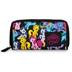 Loungefly Licensed My Little Pony Characters Zip Around Black Wallet    Item: 13623  Loungefly's licensed My Little Pony multi-character zip...