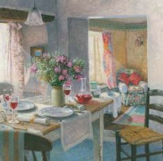 Damson Wine by Stephen Darbishire Cottage Art, Cottage Living, Summer Painting, Cottage Interiors, Country Art, Art Themes, Kitchen Art, Cozy House, Decoration
