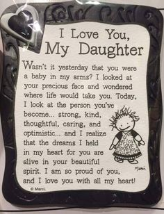 I Love My Daughter Quote Magnet quotes family daughter shop family quotes daughter quotes mom quotes buyable Mom Quotes From Daughter, I Love My Daughter, My Beautiful Daughter, My Love, Happy Birthday Daughter Quotes, Mother Daughter Poems, Graduation Quotes For Daughter, Letter To My Daughter, Beautiful Person