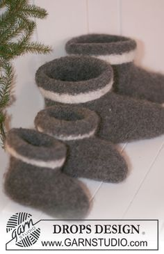 Gestrickte Und Gefilzte Hausschuhe Sockenmuster Felted Slippers