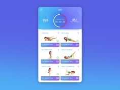 Concept UI - Fitness Workout App by Intuz