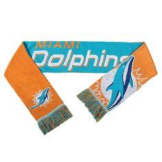 Miami Dolphins Reversible Split Logo Scarf - 2
