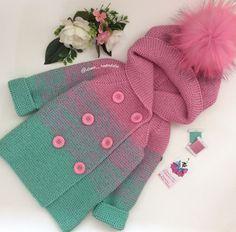 小棕熊男宝宝开衫2件套(背心+长袖)视频 - 明月的棒针艺术 | &l