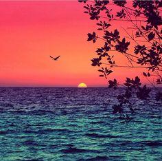 Beautiful sunset in Istanbul
