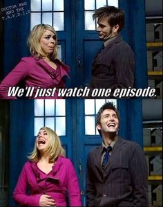 """Doctor Who. This is usually what happens when Mike says """"Let's watch Doctor Who! Serie Doctor, Doctor Who Funny, Watch Doctor, Fandoms, Don't Blink, Tenth Doctor, Torchwood, Time Lords, David Tennant"""