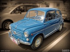 Fiat 600 The photo is taken at veterans road show. On the picture is Fiat The car was produced in the Italy between 1955 - Technical paramete. Fiat 600, Deviantart, Vehicles, Blue, Classic Motorcycle, Autos, Motorcycles, Vehicle