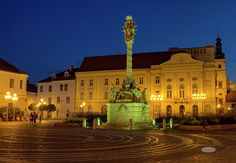 Plague Column On Holy Trinity Square In Trnava, Slovakia by Elenarts - Elena Duvernay photo Famous Places, Travel Photos, Fine Art America, Mansions, House Styles, Beautiful, Travel Pictures, Mansion Houses, Villas