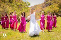 Madrinhas em pink!! Lívia e Fabio - Casamento na Cachoeira 1