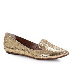 Sapato Slipper Feminino Raphaella Booz 51350 - Ouro - Passarela.com - Calçados online