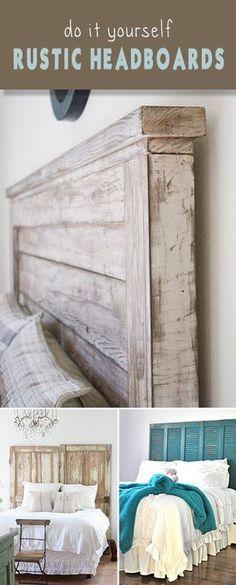 DIY Rustic Headboards • Para pintar muebles