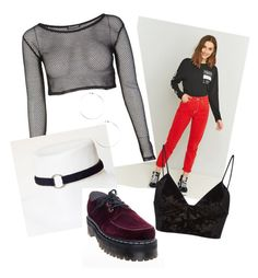 """""""Untitled #5"""" by theperks0fbeingkeeley on Polyvore featuring BDG, Dr. Martens and Fleur du Mal"""