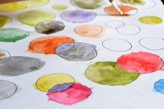 kid art water color project