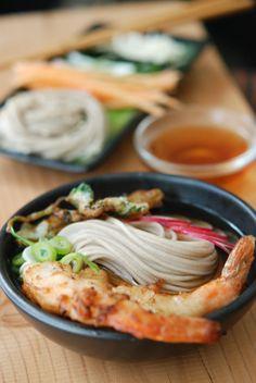 Soba Noodles with #Shrimp Tempura #recipe