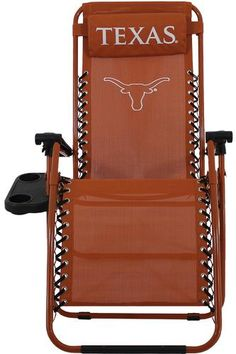 Texas Longhorn Gravity Chair. I love gravity chairs in general, but a UT one? Merry Christmas to me!