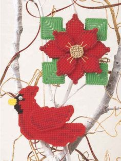Festive Ornaments free plastic canvas pattern of the day from freepatterns.com 8/18/13