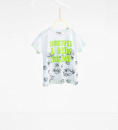 ZARA - ENFANTS - T-shirt palmiers et inscription