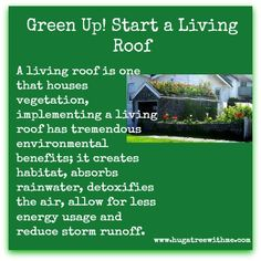 #Greenup Start a Living roof