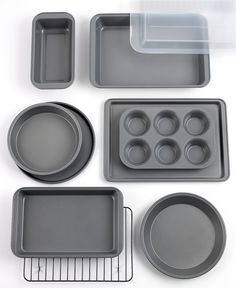 Nice idea for Meghan. Tools of the Trade Basics Bakeware Set, 10 Piece - Bakeware - Kitchen - Macy's Cooking Supplies, Kitchen Supplies, Kitchen Items, Kitchen Gadgets, Kitchen Appliances, Baking Appliances, Kitchen Ware, Kitchen Tools, Cooking Tips