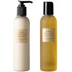 John Masters Organics body wash and body lotion. The blood orange and vanilla scent is hands down the best scent ever created in any beauty product.