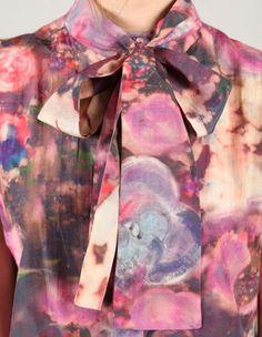 nebula pussy bow blouse