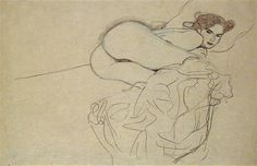 gustav Klimt drawing nude
