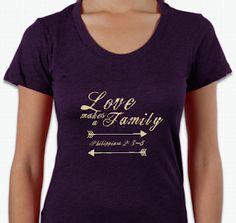 Love makes a family adoption shirts