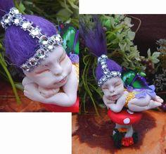 LuLu Sleeping OOAK Baby Fairy on Toadstool Fairies Art Doll Figurine NEW  #Handmade http://www.ebay.com/itm/-/162164309131?
