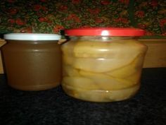 Päärynäpalat sokeriliemessä Kotikokki.netin nimimerkki Sormisuolan tapaan