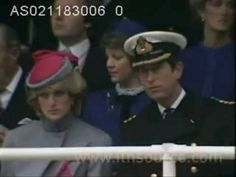 At a ceremony for the unveiling of a statue in honor of the late Earl Mountbatten, who was murdered by the IRA. 2.11.83