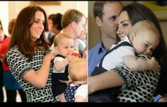 AWWW baby george with mommy